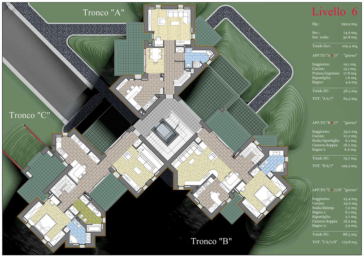Planimetria sesto piano