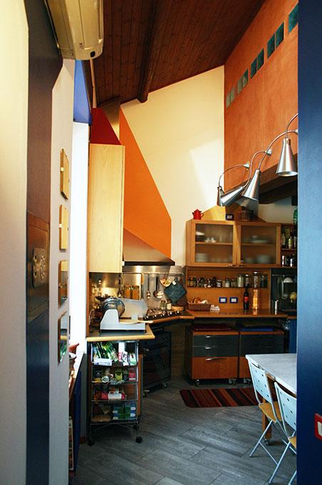 Abitare su due livelli - Cucina pranzo passante