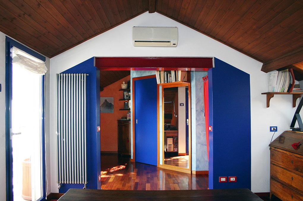 Abitare su due livelli - Tetto a doppia falda in legno a vista