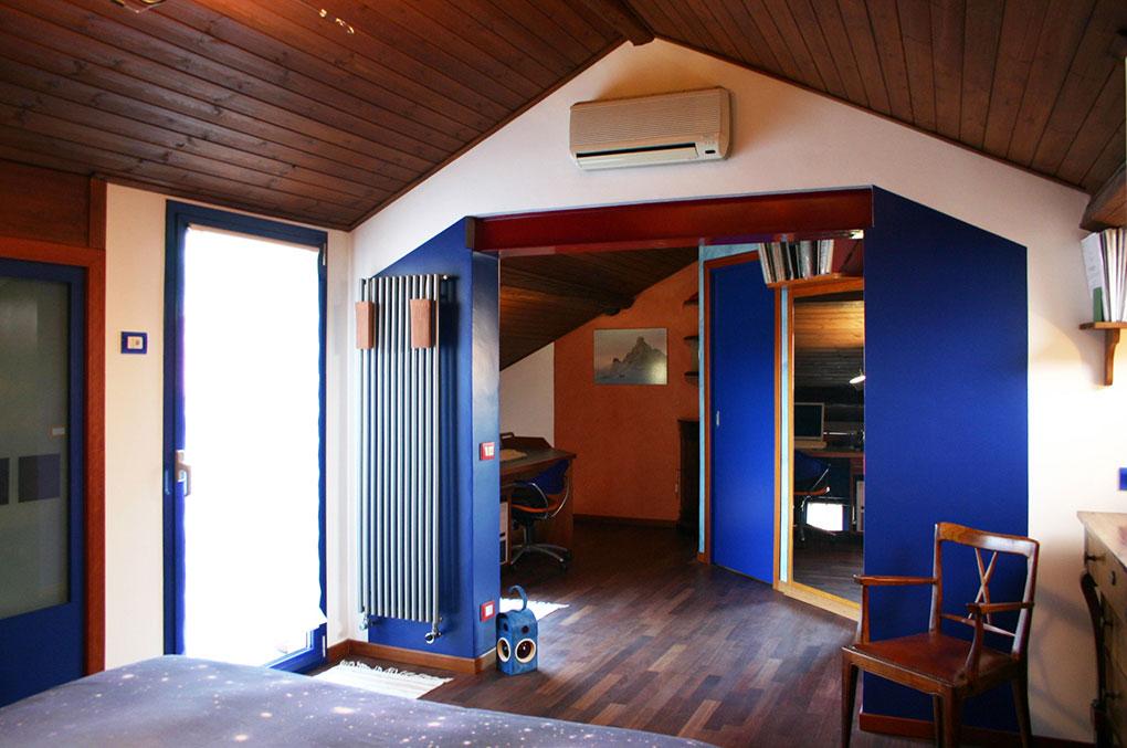 Abitare su due livelli - Vista dalla camera da letto