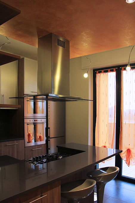 Appartamento con mansarda - Cucina a penisola