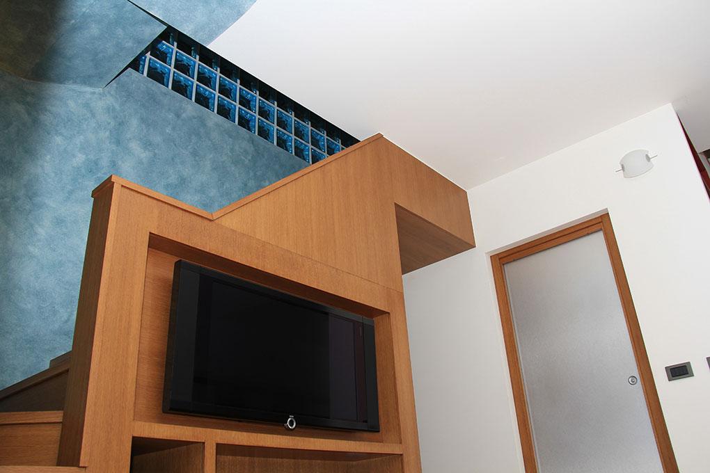 Appartamento con mansarda - Vista salendo la scala della mansarda