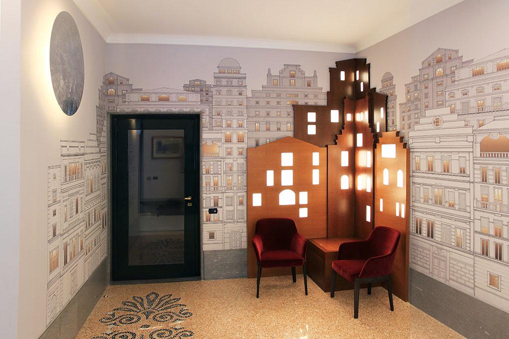 Atrio condominiale Via Sant'Orsola - Vista principale salotto