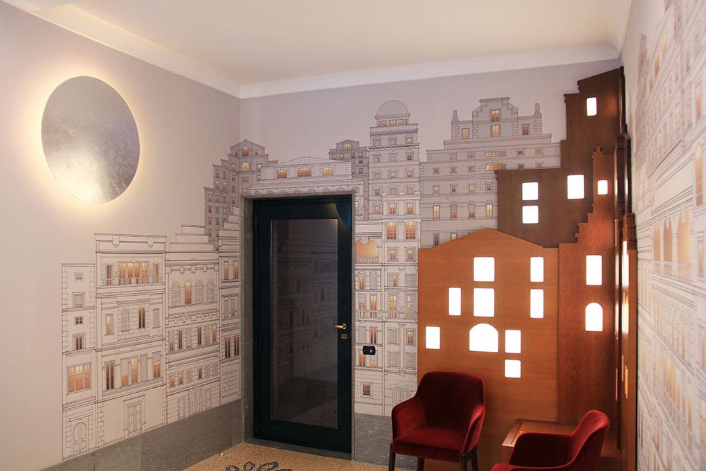 Atrio condominiale Via Sant'Orsola - Vista salottino