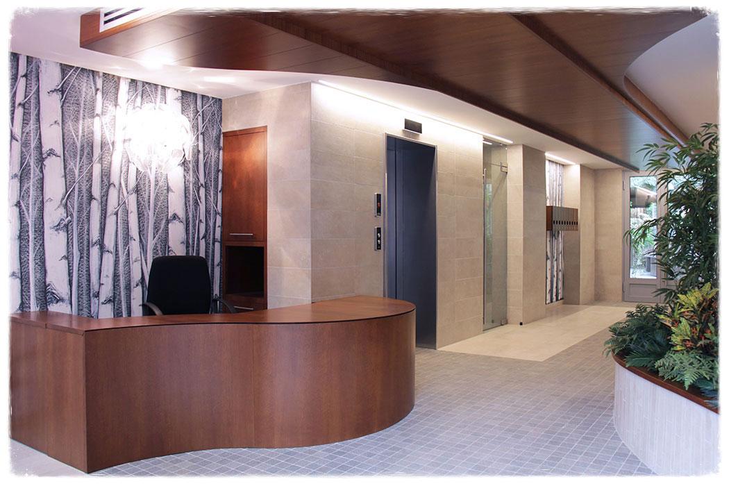 Atrio condominiale e reception