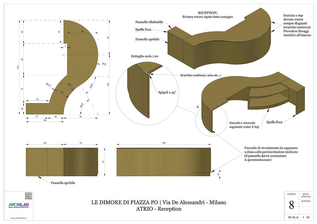 Atrio condominiale via De Alessandri - Disegni esecutivi Reception