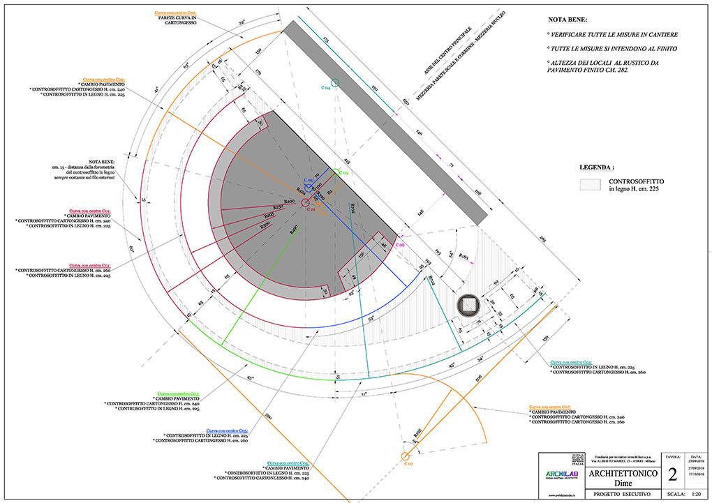 Atrio condominio Via Alberto Mario - Progetto architettonico Dime