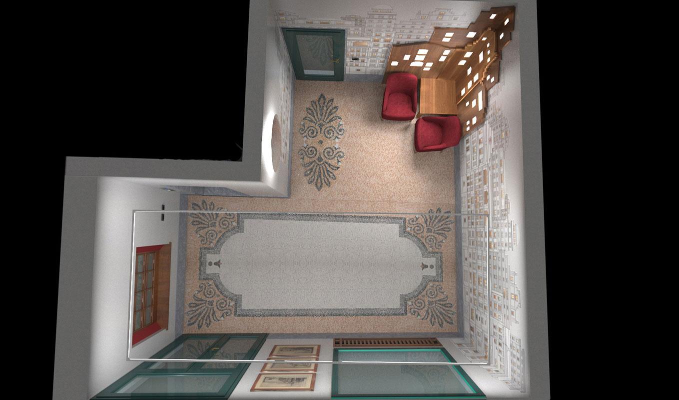 Atrio condominio Via Sant'Orsola - Progetto Planimetria prospettica