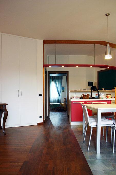 Entrare in un open space - Via Leonardo Prospettiva appartamento