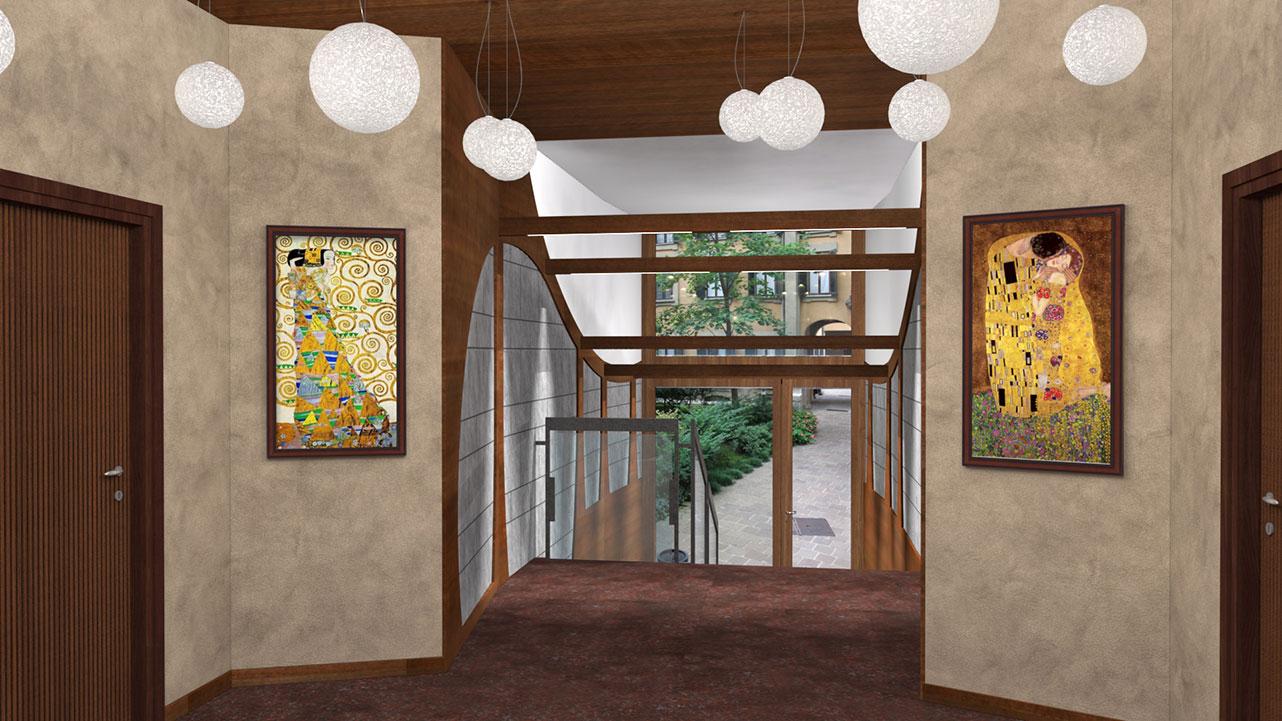 Ingresso Uffici Via Lanzone - Illuminazione a controsoffitto