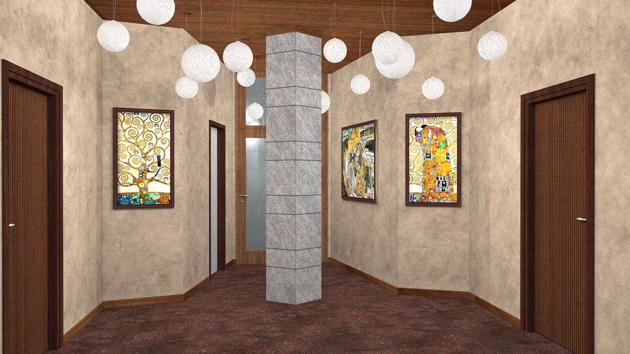 Ingresso Uffici Via Lanzone - Illuminazione atrio