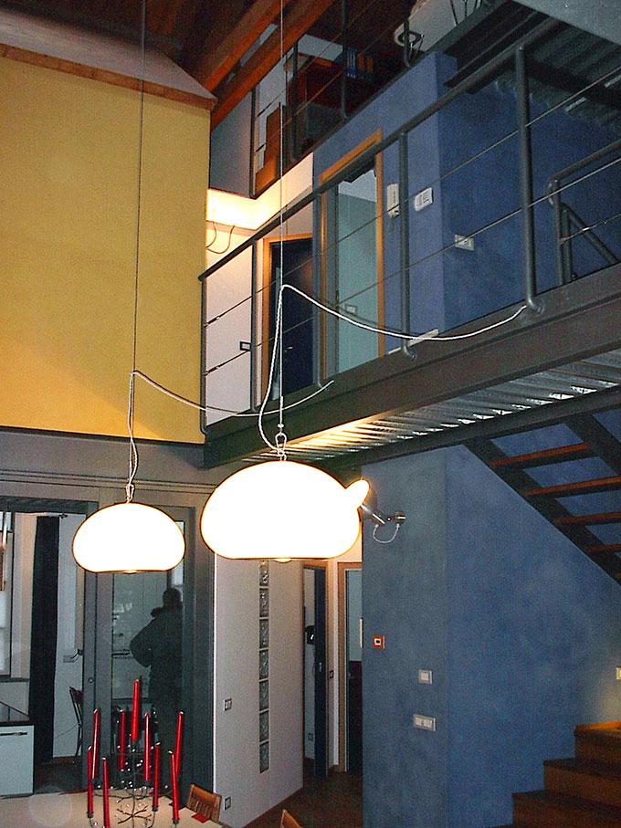 Loft - Passerella e scala in acciaio