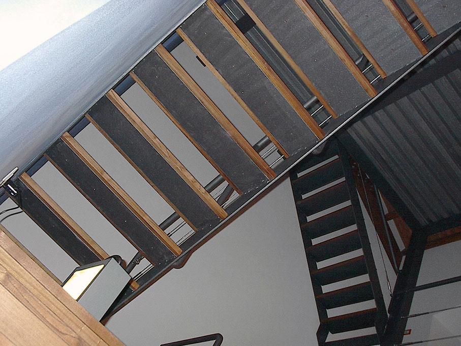 Loft - Scala in acciaio e legno