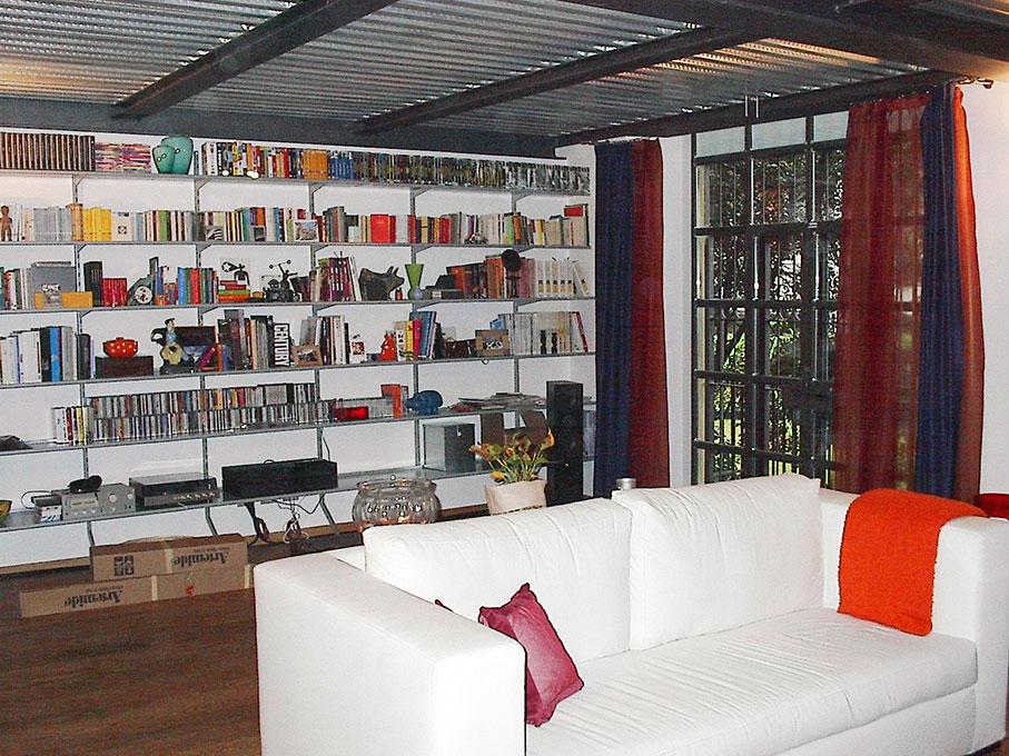 Loft - Soggiorno e libreria