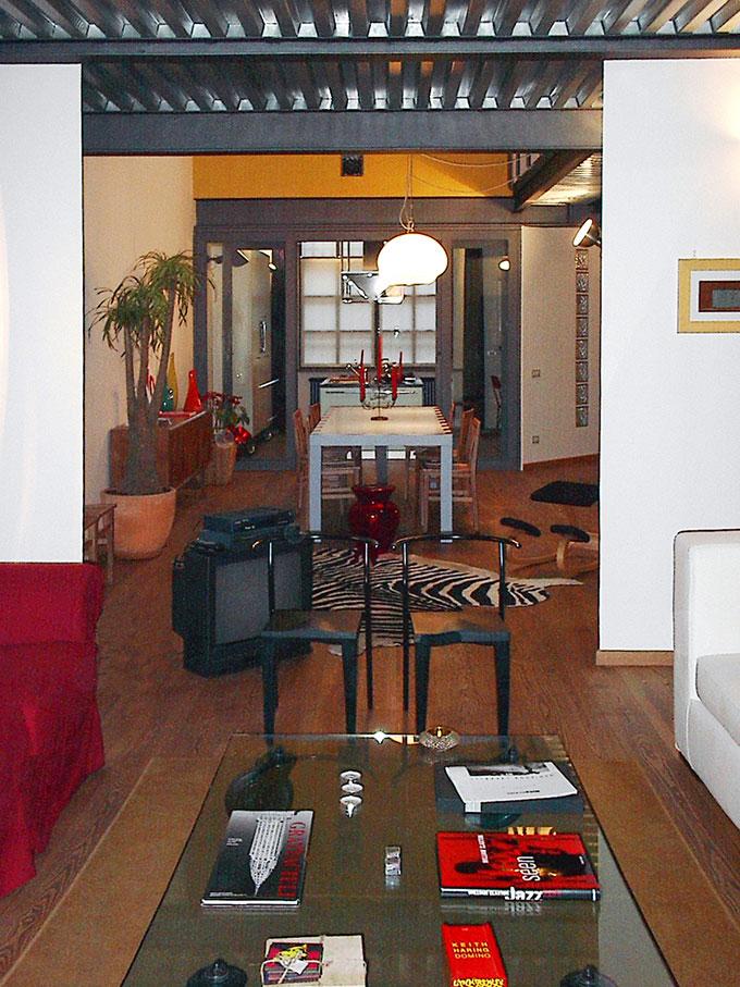 Loft - Vista soggiorno e zona pranzo