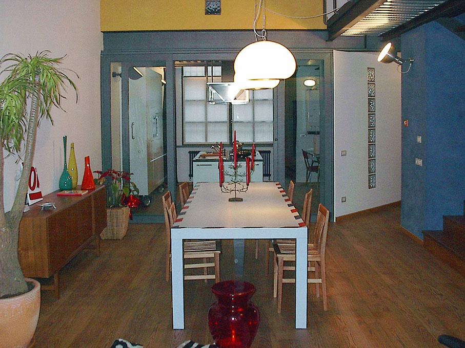 Loft - Zona pranzo e cucina