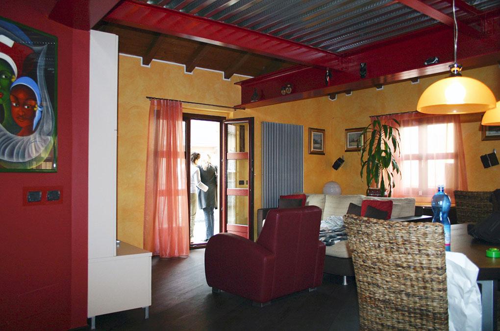 Loft con sopralzo - Living open space
