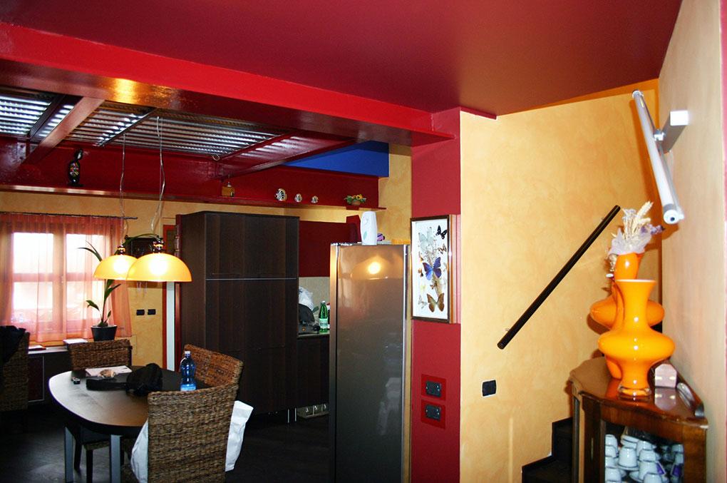 Loft con sopralzo - Scala interna in muratura