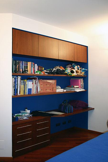 Realizzare un secondo bagno - Corso Buenos Aires Zona studio e libreria in camera da letto