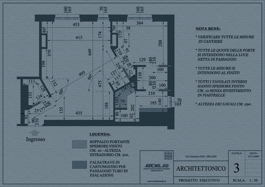 Ristrutturazione disegno Architettonico
