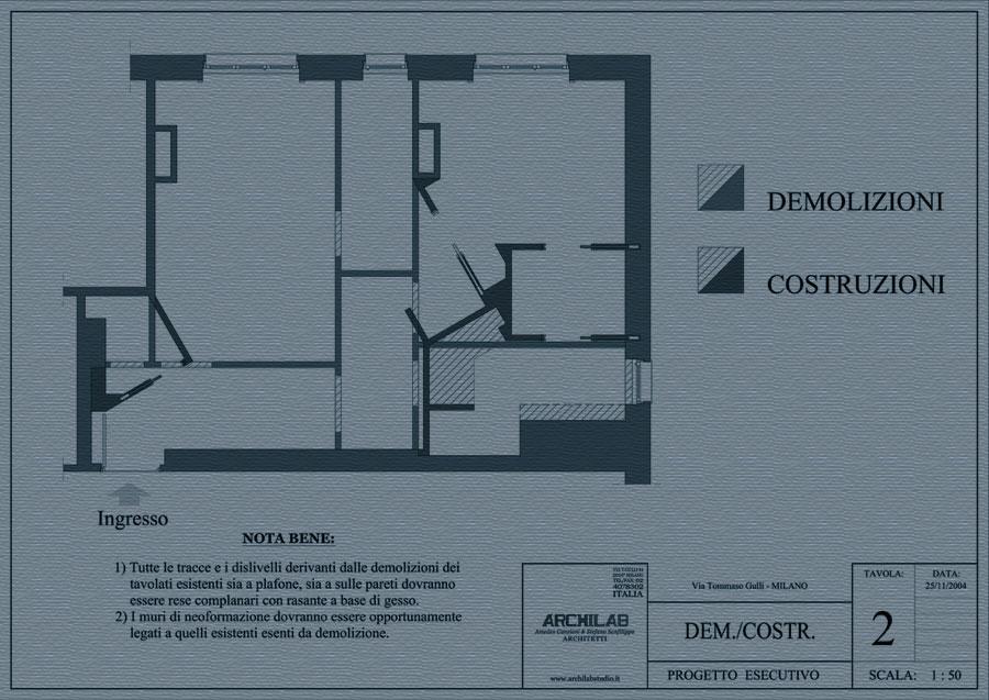 Ristrutturazione disegno Demolizione e Costruzioni