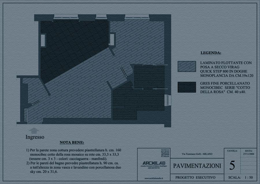 Ristrutturazione disegno Pavimentazioni