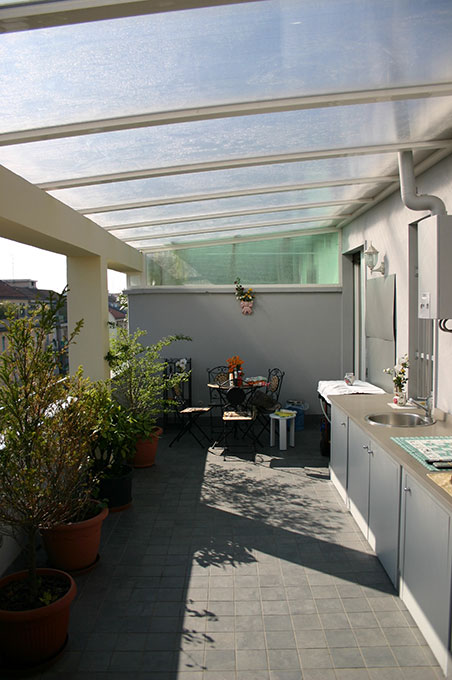 Terrazzo con appartamento - Via Montegani Terrazzo attrezzato