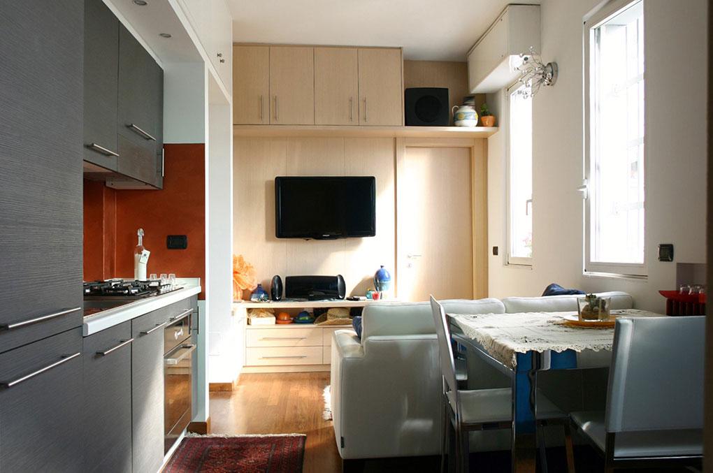 Terrazzo con appartamento - Via Montegani Vista della zona giorno open space