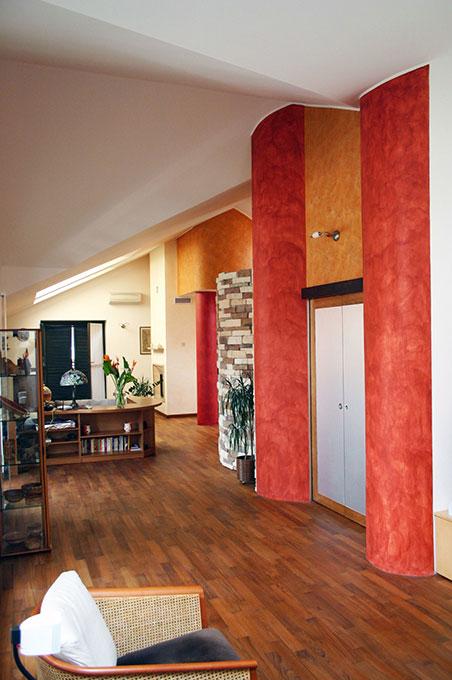 Unione di due appartamenti - Via Cavour Zona giorno open space