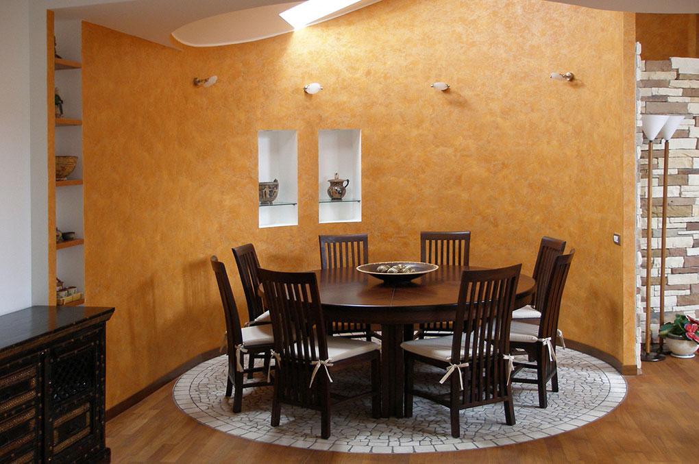 Unione di due appartamenti - Via Cavour Zona pranzo circolare