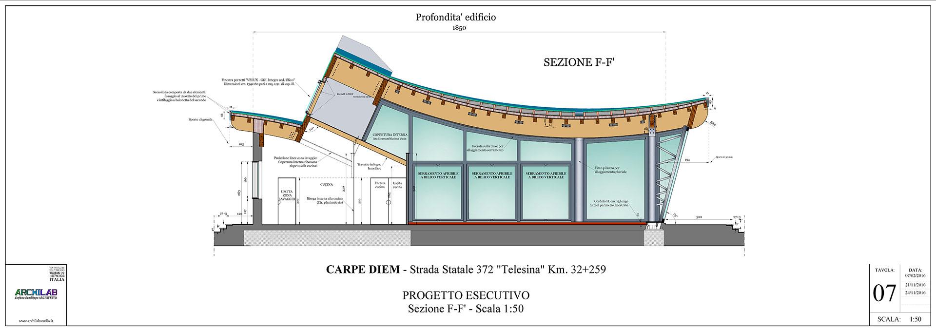 Area di servizio - Progettazione