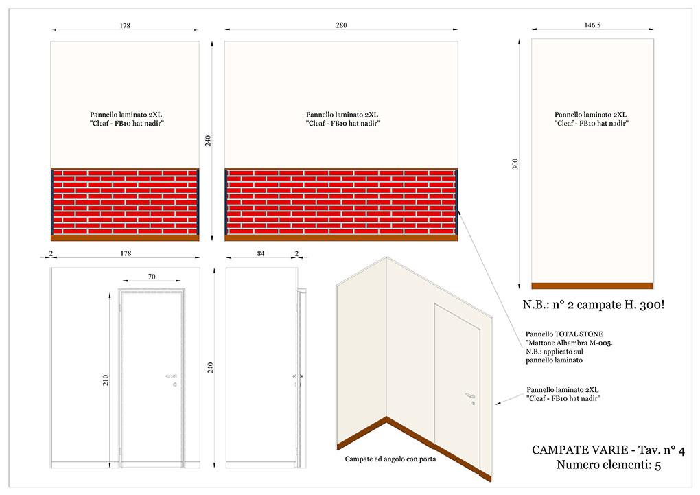 Progetto caffetterie - Campate su misura