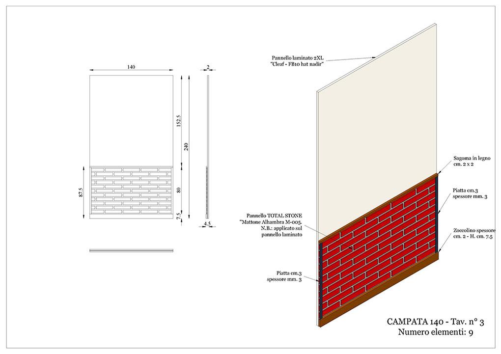 Progetto caffetterie - Elemento fondale campata