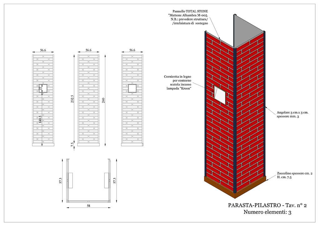 Progetto caffetterie - Elemento pilastro