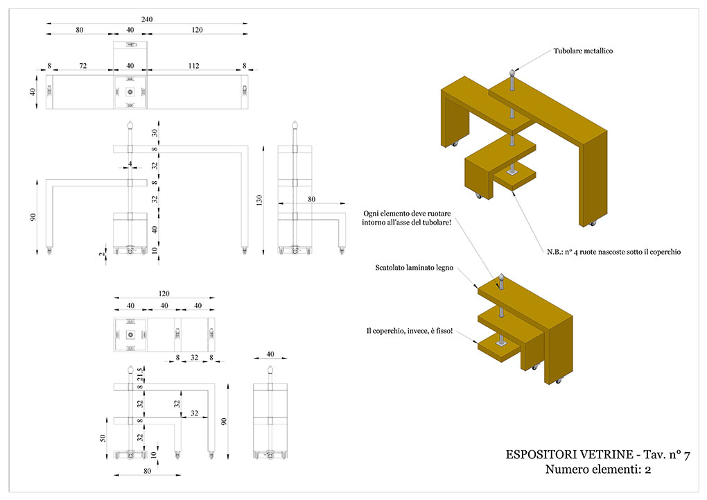 Progetto caffetterie - Espositori vetrina