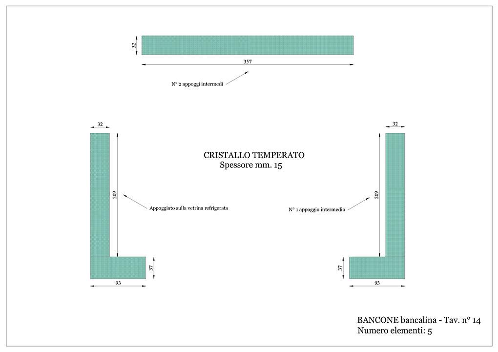 Progetto caffetterie - Bancalina bancone